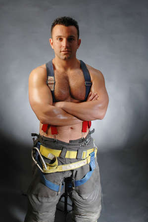 a handsome, brave, young fireman who appeared in the new york firefighters calendar