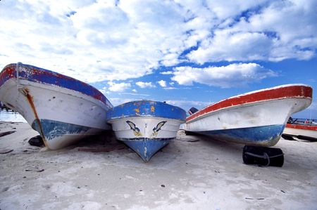 boats on the beach Stock Photo - 219029