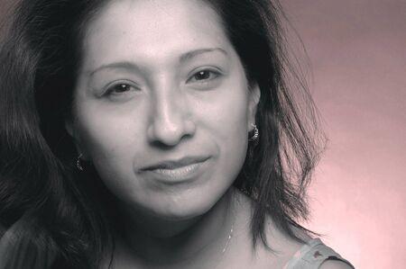 a pretty hispanic woman Stock Photo