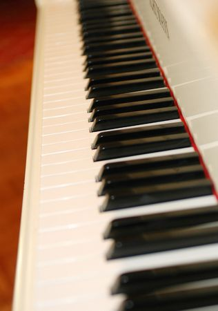 eights: a piano keyboard Stock Photo