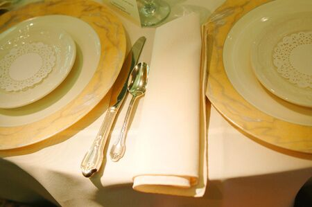 sumptuous: a beautiful place setting for a sumptuous feast