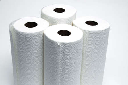 4 rolls of paper towels #2 Stock Photo