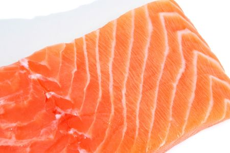 a fresh salmon fillet Stock Photo