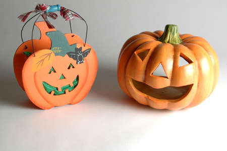 hollows:  two halloween decorations Stock Photo