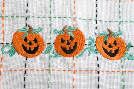 three knitted jack o lanterns for halloween Stock Photo - 231022