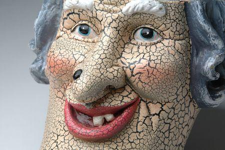 a scary ceramic face photo