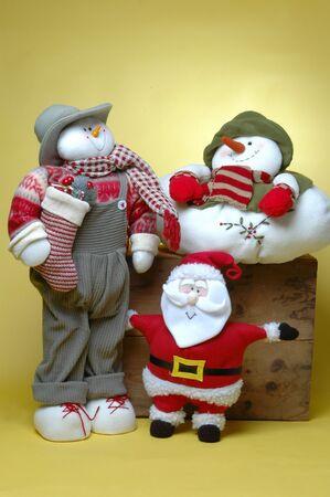 due amici: Babbo Natale con due amici