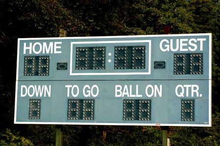 scoreboard on a small town field