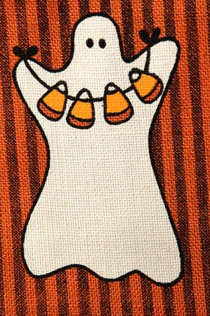 ghost on burlap