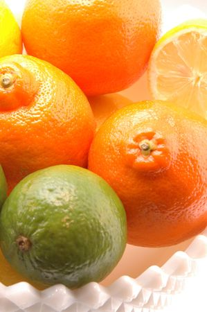 tangy: tart and tangy in three colors with a high key effect Stock Photo