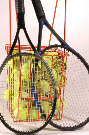 practice time for tennis players Stock Photo