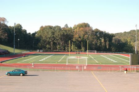 sports field for track football soccer jogging