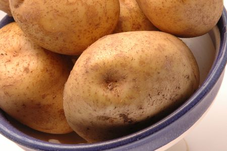 source of iron: potatoes iron rich close up in a bowl horizontal Stock Photo
