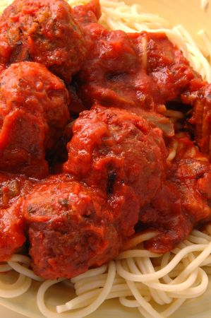 spaghetti meatballs 314 Stock Photo