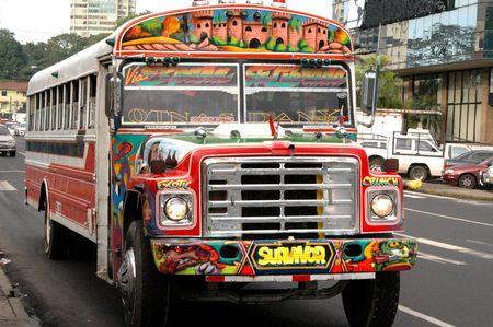 noise pollution: commuter bus panama city panama Stock Photo
