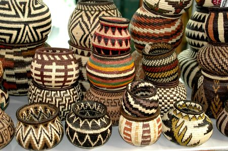 panama embera indian woven baskets 824 版權商用圖片