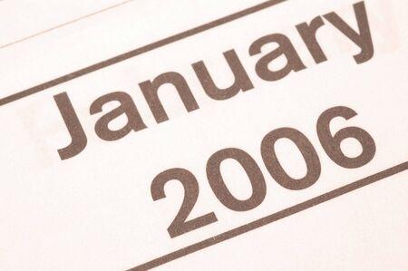 blotter: january 2006 blotter Stock Photo