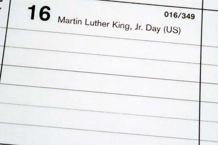 calendar blotter martin luther king day photo