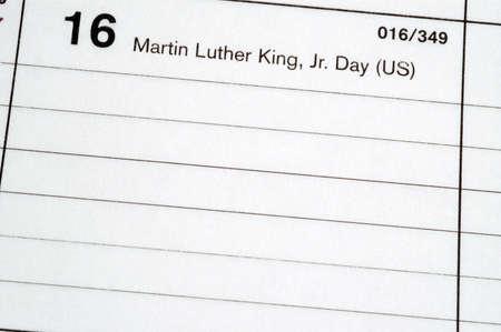 blotter: calendar blotter martin luther king day