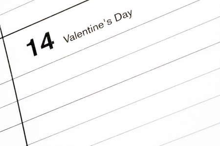blotter: valentines day calendar blotter room for copy Stock Photo