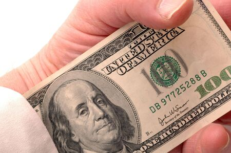 the sleeve: money up his sleeve macro detail