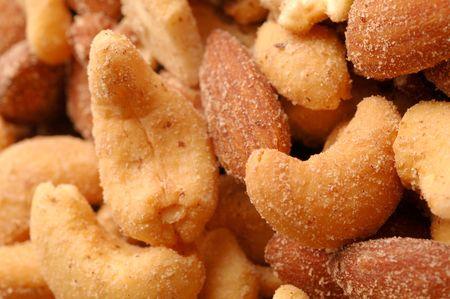 mixed nuts macro view