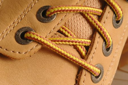 timberland: detail suede shoe