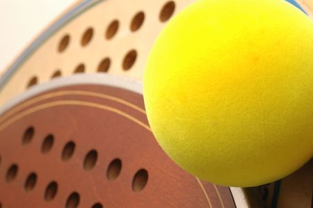 super macro paddle fiberglass and wood  balls detail