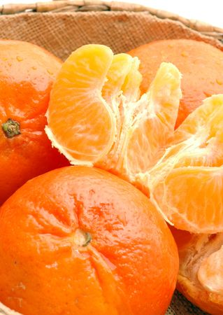 tangerines with sections photo