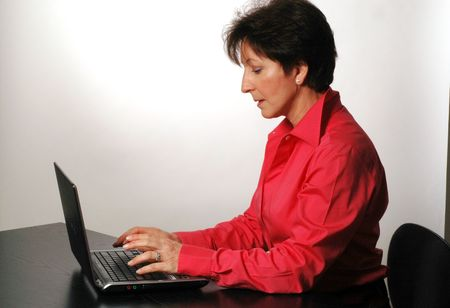 business woman in red 2 photo