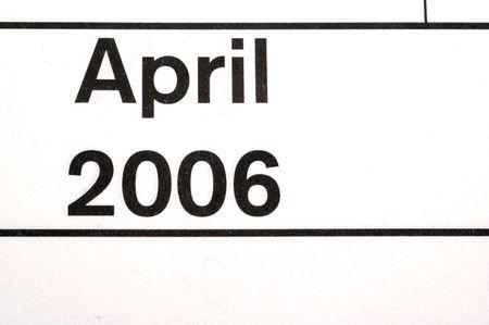 april 2006 calendar blotter