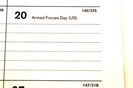 blotter: armed forces day 2006 calendar blotter copy space