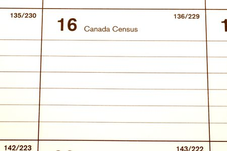 censo: canad� censo de 2006 d�as calendario blotter copia espacio  Foto de archivo