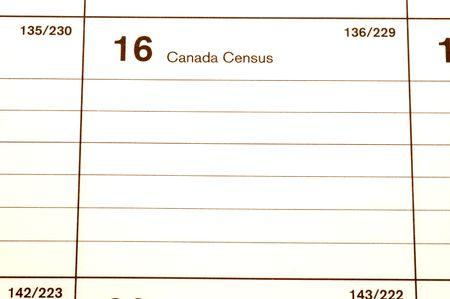 canada census day 2006 calendar blotter copy space