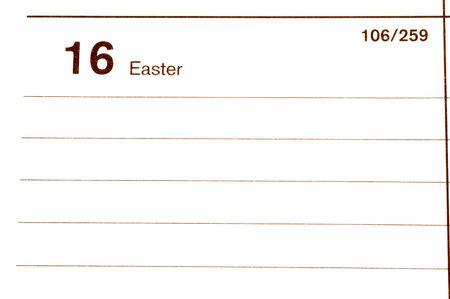 blotter: easter calendar blotter Stock Photo
