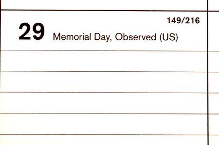 blotter: memorial day 2006 calendar blotter  copy space