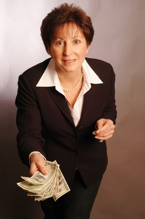 care for some cash? model released 2151 Stock Photo - 311606