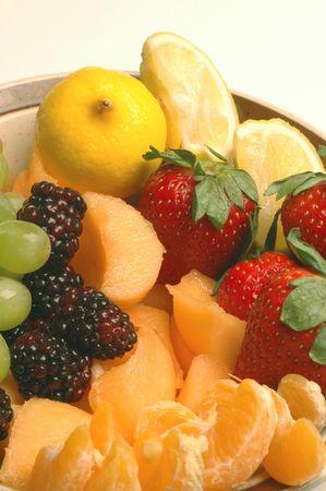 tasty fruit on white background photo