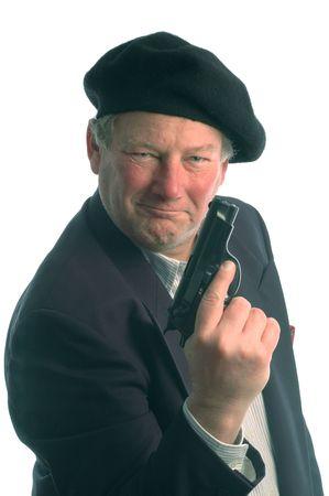 model released: blue eyes with handgun model released 400