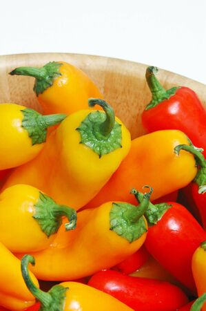 peppers orange red yellow