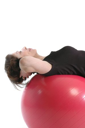 woman core training model released white copy space 914
