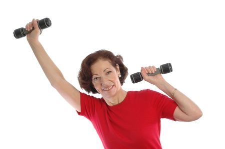 woman using dumbells copy space 868
