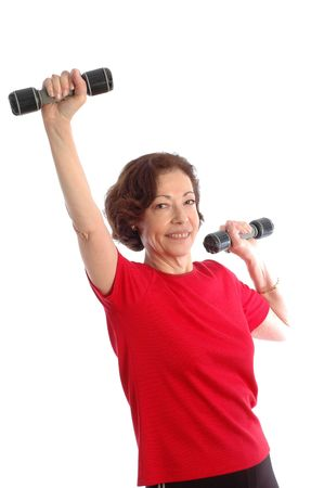 model released: woman exercising model released 873 Stock Photo