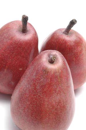 lopsided: anjou pears on white