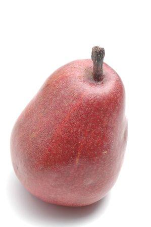 anjou: pera Anjou en blanco Foto de archivo