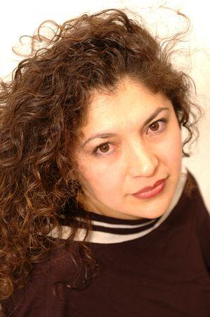 pretty woman with beautiful curls 1057 Stock Photo - 337172