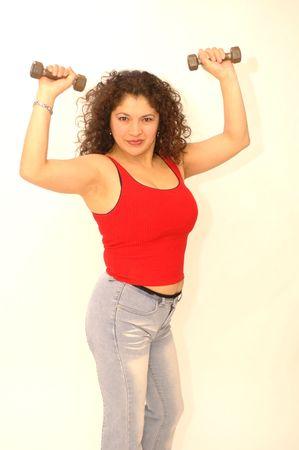 sexy latin lady exercising Stock Photo - 337165