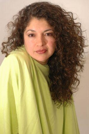 gorgeous latin lady in green Stock Photo - 337164