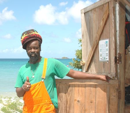 rasta thumbs up Stock Photo
