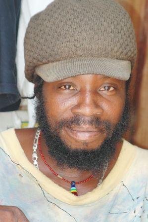 industrious: caribbean rasta man